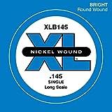 D\'Addario Corde seule avec filet en nickel pour basse D\'Addario XLB145, corde longue, .145