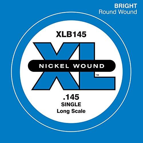 D'Addario XLB145 Einzelsaite (Größe: XL) Nickel Wound 145 Long Scale