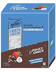 RiteBite Max Protein Fruit and Seeds Bar 420 g - Pack of 12