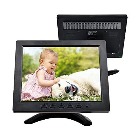 TOGUARD 8-Zoll 1024*768 TFT LCD Farb Monitor - Video Bildschirm mit BNC HDMI AV VGA Input