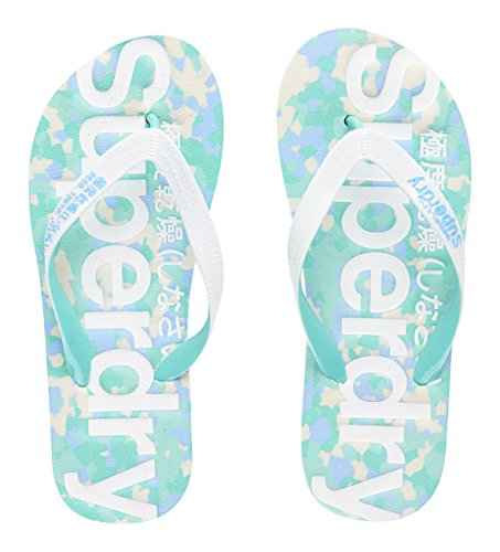 Superdry Camo Flip Flop Infradito, Donna, Multicolore (Camo/Optic/Cockatoo/Norse BlueWXF), S