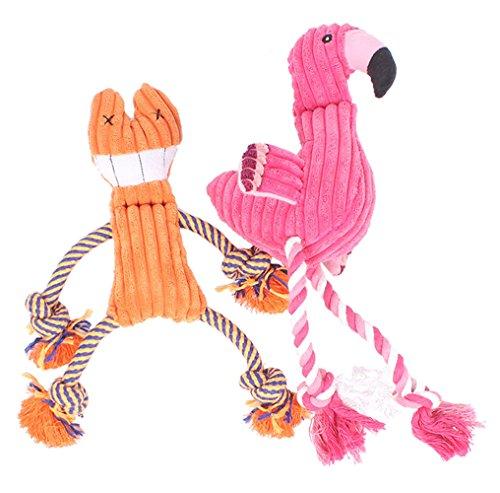 Knoten Quietschende Plüsch Hundespielzeug Kauspielzeug Zähne Saubere Puppe Umweltfreundliche Stoff, Für Hund Katze Andere Tiere-Orange Katze