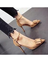 FLYRCX Personalidad simple moda zapato temporada primavera y otoño temperamento elegante dama zapatos de tacón...