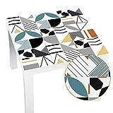 XZANTE Arte de La Pared de Mesa Lack Azulejo Geométrico Pegatina de Pared Papel Pintado Impermeable Autoadhesivo Desmontable de Muebles