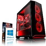 Vibox VBX-PC-278411 Gaming Desktop PC (AMD FX-Series Ryzen 7, 1000GB Festplatte, 8GB RAM, NVIDIA GeForce GTX 1080, Win 10 Home) Rot (Personal Computers)