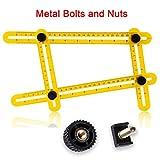 Angleizer Vorlage Werkzeug, VIDEN Multi-Angle Messen Lineal mit robusten Metallschrauben, Winkel Werkzeug zum einfachen Winkelmessen für Handymen, Ingenieur