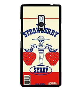 PrintVisa Designer Back Case Cover for OnePlus 2 :: OnePlus Two :: One Plus 2 (Fair Trade Strawberry Fruit Typography Hat)