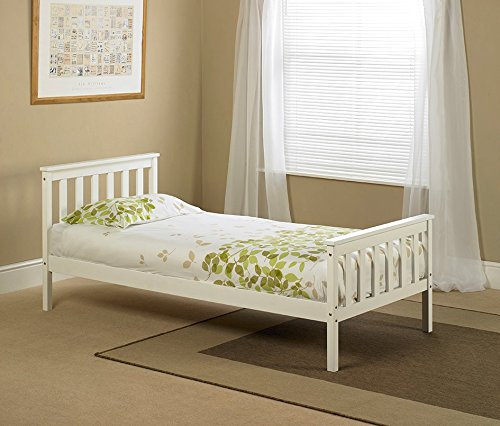 White Wooden Single Bed Frame Buy Online In Uae