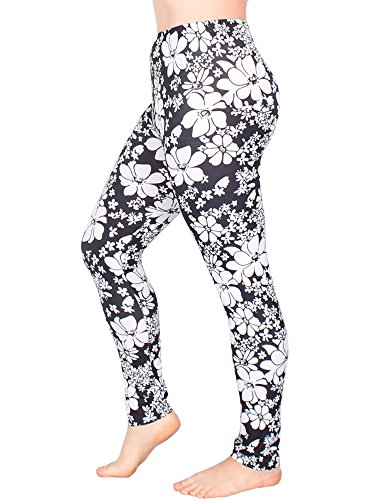 Leggins Damen Leggings leggings mit Muster bunt schwarz weiß elastisch 455 lang 5