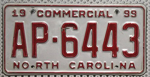 USA Nummernschild NORTH CAROLINA ~ US Kennzeichen LICENSE PLATE ~ Metall-Schild