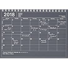 MARK'S 2018 Tischkalender S // Black