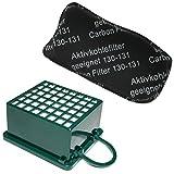 KIT Filtro HEPA / EPA + Filtro ODORI per aspirapolvere Vorwerk Folletto Kobold VK 130, 131 SC, VK130, VK131
