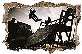 Skater Skateboard Wandtattoo Wandsticker Wandaufkleber D0910 Größe 40 cm x 60 cm