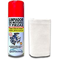 SANMARINO LIMPIADOR DE MOTORES Y PIEZAS SPRAY 520 CC. + BAYETA