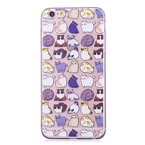 3X Cover iPhone 6S Plus 6 Plus, E-Unicorn Cover Custodia Apple iPhone 6S Plus 6 Plus Silicone Morbido Trasparente Cover Unicorno Panda Sigilli TPU Gomma Morbida Colorate Ultra Slim Bumper Case Modello Gatto Unicorno Orso