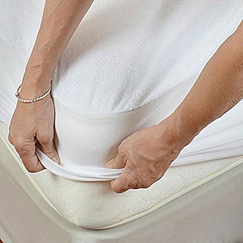 AGIA TEX Matratzenschoner wasserdicht Matratzen-Auflage Molton atmungsaktiv Inkontinenz-Schutz mit Rundumbezug 100% Baumwolle Größe 160x200 cm