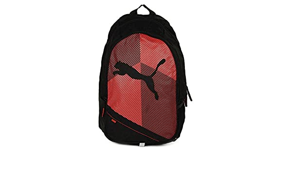 fcf9c6f37e Puma Unisex Echo Plus Black   Red 27 L Backpack  Amazon.in  Bags ...