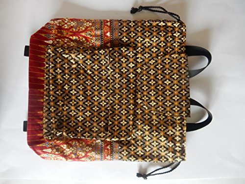Rucksack aus Baumwolle mit Thai muster - verschiedene Modelle braun bunt