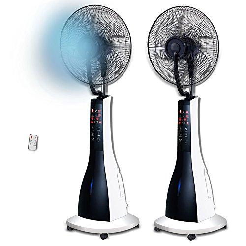 Foto de SIVANO Ventilador de pie con nebulizador pulverizador de Agua y Mando a Distancia 90W
