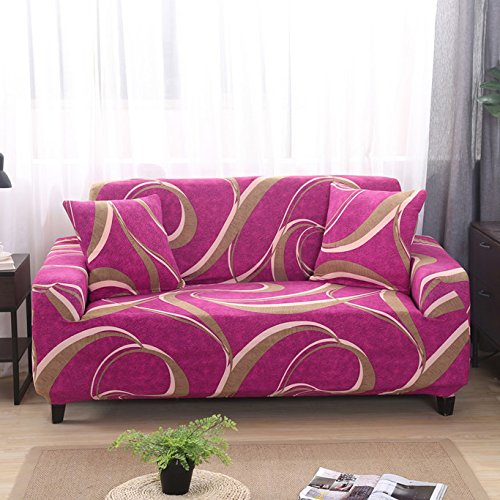 Ssdlrsf dimensione universale 1/2/3/4 divano copridivano elasticizzato stampa fiore copridivano copridivano fodera divano copertura mobili decorazione della casa (90-300cm), c8002,4 posti 230-300cm