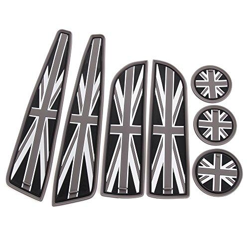 morbido-silicone-coppa-7pc-coasters-holder-laterale-sportello-del-vano-mats-per-bmw-mini-cooper-r55-