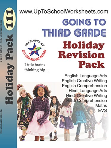 Revision Pack Of 3 Books for Kids Going To Class 3, Mixed Subjects worksheets of Class 2, English Handwriting And Hindi Handwriting