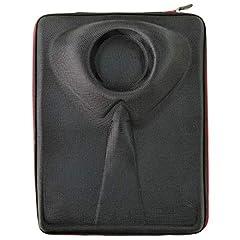 Idea Regalo - Elegante Custodia Rigida Per Camicia Uomo - Porta Camicia - Borsa Da Viaggio Per Camicie - Senza Piega In Valigia o Trolley - Comodo Come Bagaglio A Mano - Organizzatore Valigia (Nero)