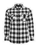 Urban Classics Herren Flanell Hemd Padded Checked Flanell Light Jacket TB856, Größe:XXL;Farbe:black/white-00050