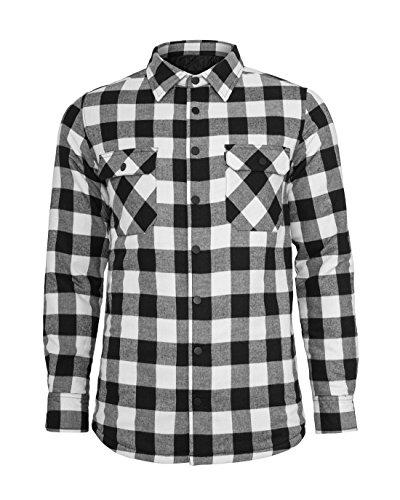 Preisvergleich Produktbild Urban Classics Herren Flanell Hemd Padded Checked Flanell Light Jacket TB856,  Größe:XXL;Farbe:black / white-00050