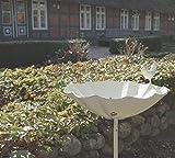 Vogeltränke MATZ, metall, weiße Stab-Vogeltränke im Landhaus-Stil