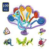 Children Hub 109pcs Creative Construction Toys For Kids - Flexible Sticks - Multiple Ways To Connect