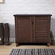 HomeTown Riveria Engineered Wood Shoe Rack in Wenge Colour