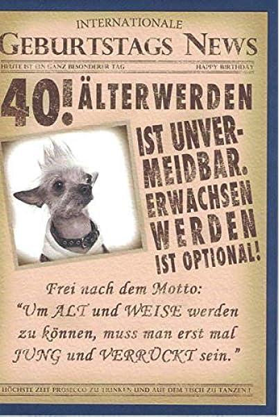 Geburtstag 40 frau witzig