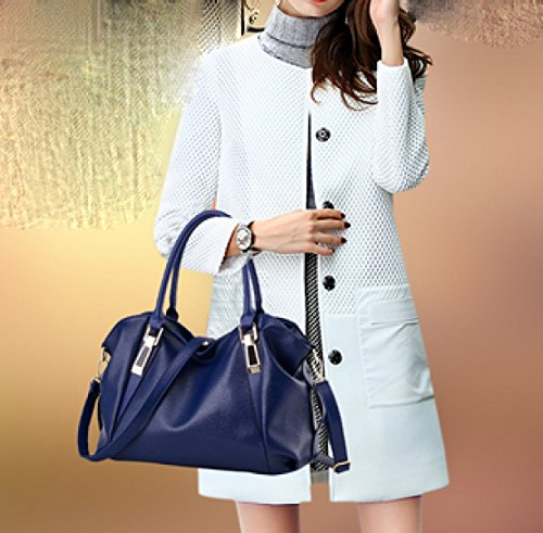 LAIDAYE Frau Handtasche Mode Handtasche Schultertasche Messenger Bag Big Bag Brown