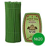 Diveevo 20 Candele di Cera d'api N20 / 30,5 cm Candele chiese di Alta qualità Verde Освλеннте Воскове свевеςи
