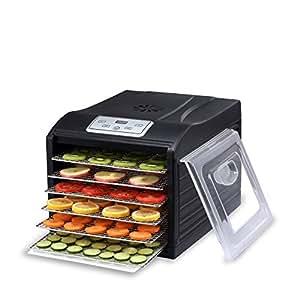 Déshydrateur Alimentaire BioChef Arizona Sol 6 Plateaux - Affichage numérique, Minuteur, Plateaux en acier inoxydable et sans BPA