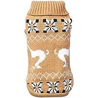 Keepwin Haustier Hund Katze Winter warme Rollkragenpullover, Puppy Printed Coat Kostüm Bekleidung