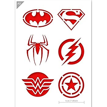 Batman vol Badge Inscription Mylar Hero Airbrush Peinture murale Art Artisanat Stencil 4 A2 Taille Pochoir - Large
