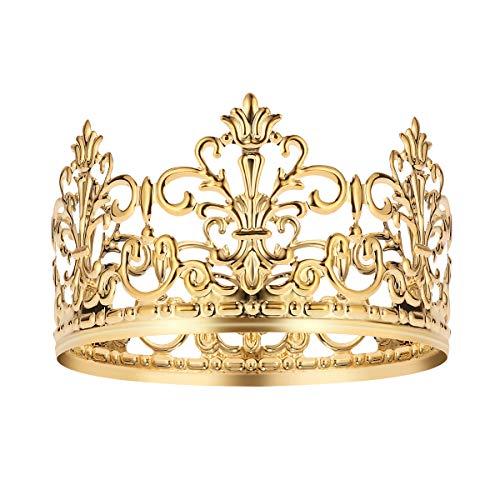 2 stücke Gold Crown Cake Topper Hochzeit / Geburtstag Kuchen Dekoration Für König, Königin, Prinz Und Prinzessin Party (Gold) (Der Kleine Prinz Geburtstag Kostüm)