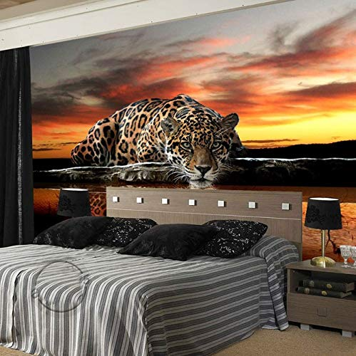 Kuamai set Tiger Looking At You Animal Wallpaper Papel Mural For Bedroom Background 3D Wall Photo Murals Wall Paper 3D Sticker-400X280Cm Tiger Wallpaper Set