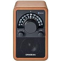 Sangean WR-15BT - Radio FM, marrón