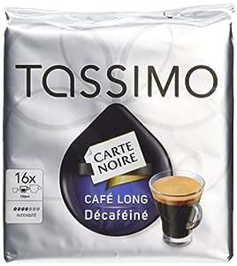 Tassimo Tdisc Carte Noire Café Long Décaféiné 16 dosettes - Lot de 5 (80 dosettes)