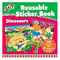 Galt Reusable Sticker Book Dinosaurs (Over 150 Stickers!)