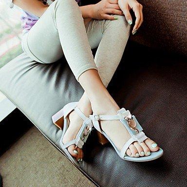 LvYuan Femme Sandales Confort Semelles Légères Similicuir Polyuréthane Eté Automne Habillé Soirée & Evénement Marche Confort Semelles Légères White