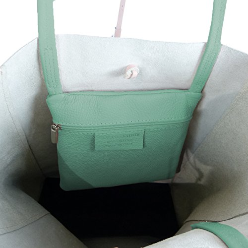 FreyFashion - Made in Italy, Borsa tote donna menta