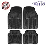 #3: Fabtec Premium Quality Black PVC Rubber Foot Mat, Floor Mat (Set of 4 Pcs) For Ford Figo Old