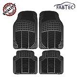 #8: Fabtec Premium Quality Black PVC Rubber Foot Mat, Floor Mat (Set of 4 Pcs) For Ford Figo Old