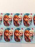 Wählen Sie Ihre Lieblings-Stil 25 mm, Frozen/Anna Olaf Bordüre Elsa Schneekönigin und Anna 2.54 cm, 25 mm, Frozen Prinzessinnen Grosgrain-Geschenkband, Motiv