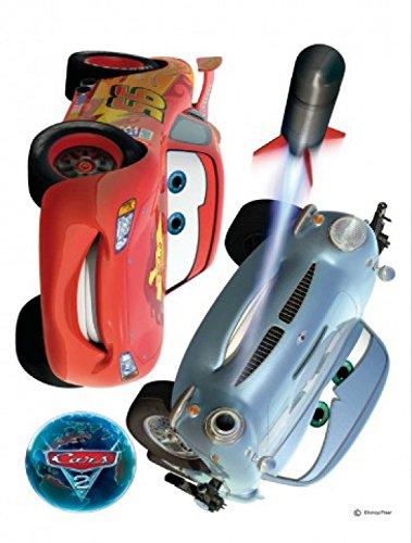 1art1 75292 Cars - 2, Lightning McQueen Und Finn McMissile Wand-Tattoo Aufkleber Poster-Sticker 85 x 65 cm