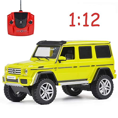 Poooc Fernbedienung Lkw Offroad RC Auto 1:12 ferngesteuertes Fahrzeug G500 4x4 Geländelicht Modell Kinder elektrisches Spielzeugauto 2,4 GHz Spielzeug Ideale Geschenkidee für Kinder Jungen & Mädchen G (Elektro-lkw 4x4 Rc)